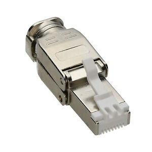 IDC Punch Down to RJ45 Plug for Cat6A FTP Solid Network Ethernet Cable Connector