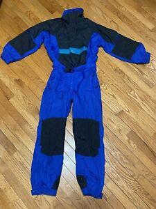Vintage Columbia ski suit ~ youth Medium 14 / 16 One Piece blue Boys Girls