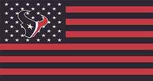 NFL Houston Texans Stars and Stripes Color Flag Banner 3X5 FT FAST USA SHIPPING