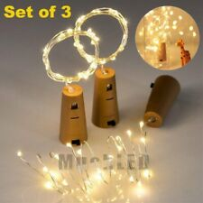 3Pack 2M 20 LED Wine Bottle Light Copper Cork Wire String Fairy Light XMAS Party