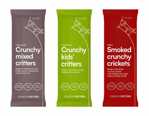 Crunchy Critters Mixed critters, Smoked crunchy crickets, Crunchy kids' critters