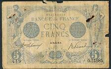 FRANCE BANKNOTE 5 P70 1916 LIBRA 10 VG - p/h