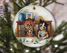 Cats Kittens Naughty Playing Vintage Style Christmas Ornament, Christmas Gift