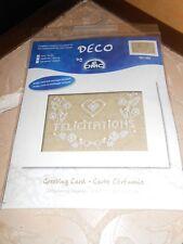 """kit point de croix compté + perles DMC DECO """"carte cétémonie - mariage"""" - neuf"""
