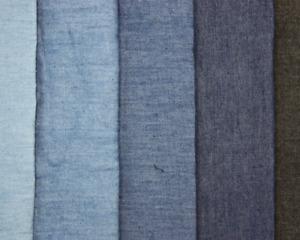 Plain chambray dressmaking craft fabric 147cm wide 100% cotton dark blue denim