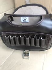 New Leather Cartridge Bag With Front Loaders. Attached Brass Buckles (042)