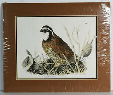 "8"" 1975 Vintage Print Signed Linda Picken Grouse Bird Home Wall Decor"