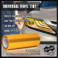 "Yellow Vinyl Film Smoke Tint Headlight Taillight Fog Light 12""x60"" In / 1 x 5 FT"
