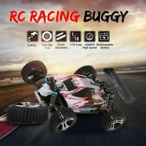 Rc Auto Verbeterde A959 Rood 2.4G 1/18 45 Km/h 540 Brushed Motor Car Gift Buggy