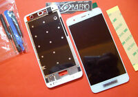 """DISPLAY LCD+TOUCH SCREEN +COVER HUAWEI NOVA 5"""" VETRO BIANCO FRAME CAN-L01 +TOOLS"""