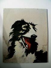 Barsoi - schönes altes Hunde Porträt - signiert JAHNS - Windhund