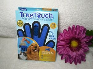 TrueTouch FiveFinger Deshedding Glove Pet Grooming Cat & Dog seen on TV All size