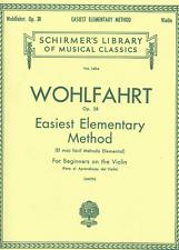 Wohlfahrt-Easiest Elementary Method-1404 Schirmer Viiolin Music Book Op 38-New!