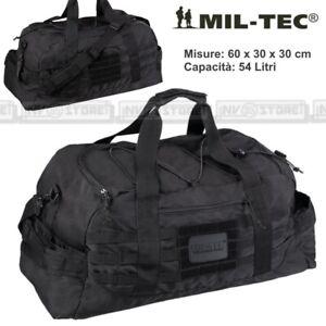 Borsa Borsone Tracolla MILTEC Combat Parachute Cargo Bag Militare Softair NERO