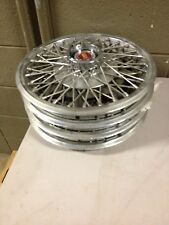 "4 13"" Wire Wheel Covers Hubcaps 1977-1982  Ford Mustang Granada Pinto (dde23)"