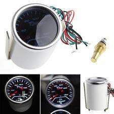 "2"" 52mm Car Universal Smoke Lens LED Pointer Oil Temp Temperature Gauge Meter"