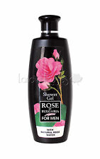 ROSE OF BULGARIA NATURAL SHOWER GEL FOR MEN WITH BULGARIAN ROSE WATER