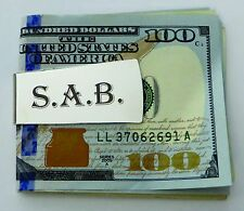 Gold or Silver Money Clip - Free Custom Engraving and Personalization