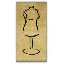 DRESS FORM Mounted fashion rubber stamp, woman mannequin #5
