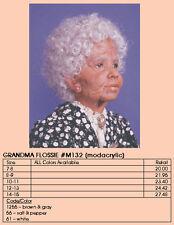"MONIQUE Doll Wig ""GRANDMA FLOSSIE"" Size 12-13 Color SALT & PEPPER"