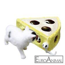 Sisalspielzeug Cheesy 28 x 28 x 10 cm Lochkäse mit Spielmäusen Katzenspielzeug