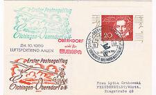 1959. Alemania. Postal circulada con matasello especial y viñetas aereas