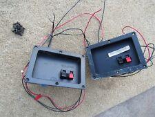 Pair (2) DCM CX-17 Crossovers W/ Speaker Terminals Xover Speaker Parts Working
