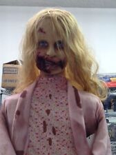 Walking Dead Teddy Bear Girl Animatronic 5 feet tall Stop and Go She Stalks You