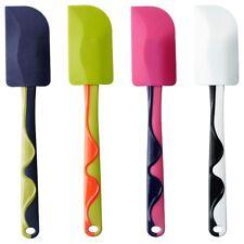 1x IKEA GUBBRÖRA Blue Pink Rubber Spatula Silcone Long Handle Dishwasher Safe