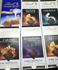Lindt Excellence Chocolates -  Coconut, Orange, Caramel, Truffle, various,100g