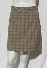 MOUNTAIN HARDWEAR Women's Brown Plaid Stretch Organic Cotton Skirt size 4 EUC