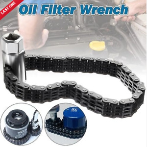 Car Truck Strap Clamp Socket Wrench Oil Filter Remover Tool 1/2'' Chain Type AU