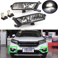 Left Right Side LED Front Bumper Fog Light Lamp For Honda CR-V CRV RM 2015 16 17