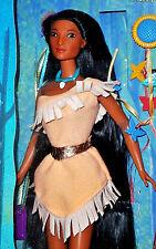 DISNEY barbie mattel Pocahontas Braided Beauty Doll années 90 ans Boîte d'origine jamais ouverte A. Konvult