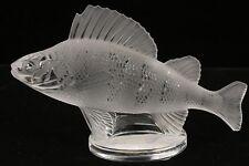 "Signed lalique Art Glass Fish (Perch) ""Poisson Perche"" Sculpture France"