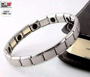 Germanium Bracelet Stainless Steel Bangles Magnetic Therapy Health Care UK