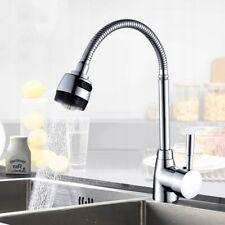Flexible Swivel Kitchen Mixer Tap Faucet Single Lever Chrome brushed steel