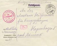 DEUTSCHES REICH 1917 Kriegsgefangenenbrief Offiziers-Gefangenen-Lager GNADENFREI
