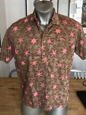 Runabout Goods/Rising Sun Jeans- Vacation shirt brown floral sz. L