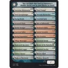 4x MTG Set Checklist token card NM - Shadows over Innistrad