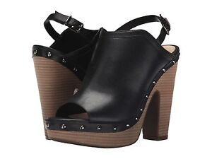 Women's Jessica Simpson Daine Mules, Sizes 6-9 Black Mari Buff JS-DAINE Leather
