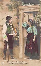 AK Ziegeunerbaron mit Frau Zigeunerin Postkarte gel. 1908
