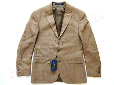 New Ralph Lauren Polo Silk & Flax Beige Sport Coat Jacket Custom Fit sz 42 Reg