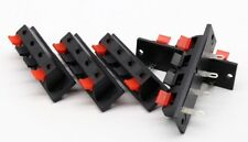 5x 4 Positions Push In Jack Spring Load Audio Speaker Terminals Panel Connector