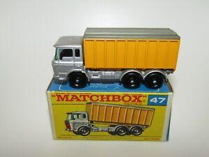 Lesney Matchbox No 47 DAF Tipper Container Truck VNMIB F Box