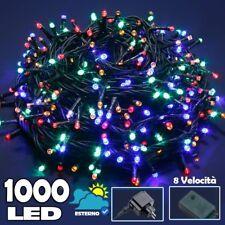 Catena Luminosa 1000 LED Luci Albero Natale Lucciole Multicolore Esterno 24V