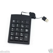 USB 19 keys Numeric Number Num Pad Keypad Keyboard for Laptop Notebook US Seller