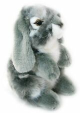 Living Nature Small Sitting Lop Eared Rabbit Soft Toy ~ Grey