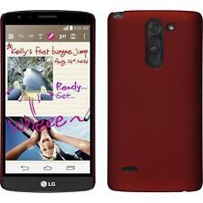 Funda Rígida LG G3 Stylus - goma rojo + protector de pantalla