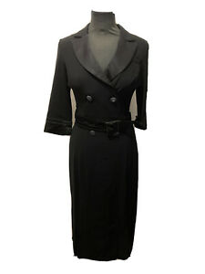 Karen Millen Double Breasted Blazer Style Dress UK Size 10